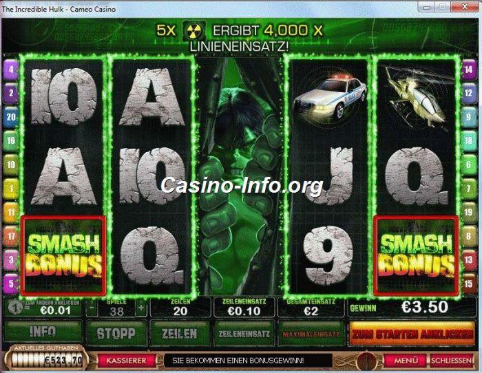 Incredible Hulk slot - gratis online spil